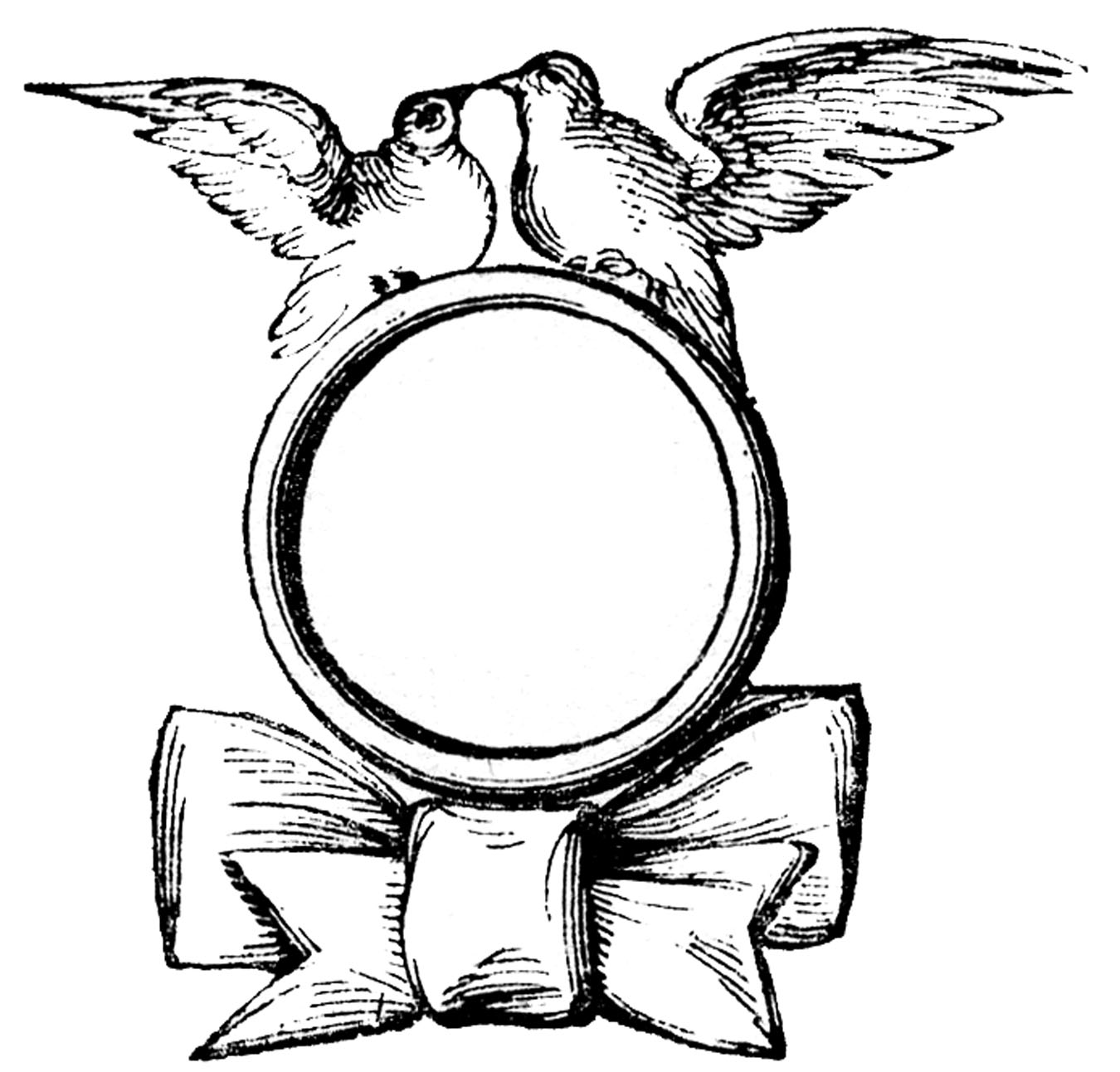 1350x1292 Wedding Ring Vintage Wedding Clip Art Ring With Doves The Graphics