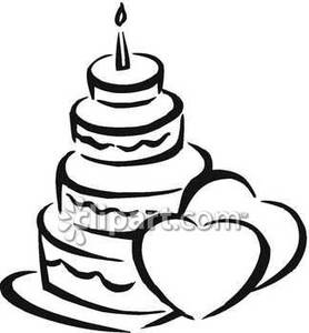 Wedding Clipart Free Black And White Free Download Best Wedding - Wedding Cake Outline