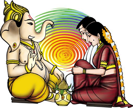 510x413 Hindu Clipart Colour