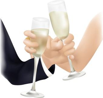 340x324 Wedding Toast Clip Art