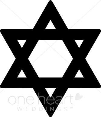 334x388 Black Star David Clipart Religious Wedding Clipart On Star