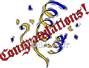 300x231 Clip Art Congratulations
