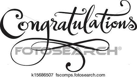 450x259 Clip Art Of Congratulations K15686507