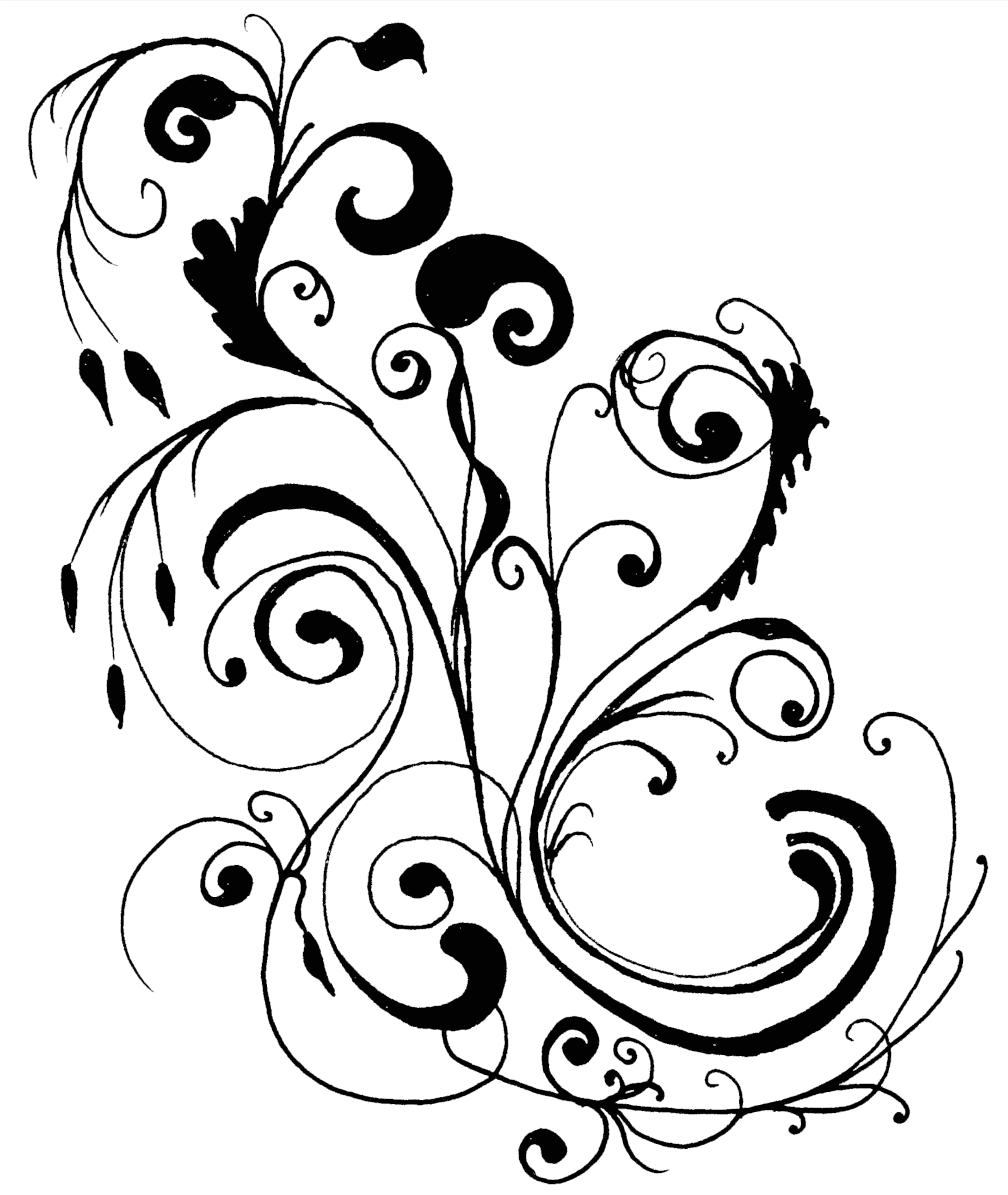 2180x2584 Clipart And Border Line Art