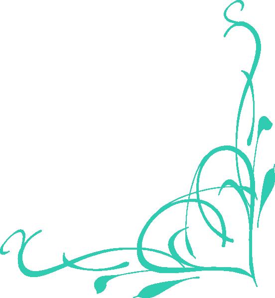 552x598 Corner Heart Swirl Clip Art