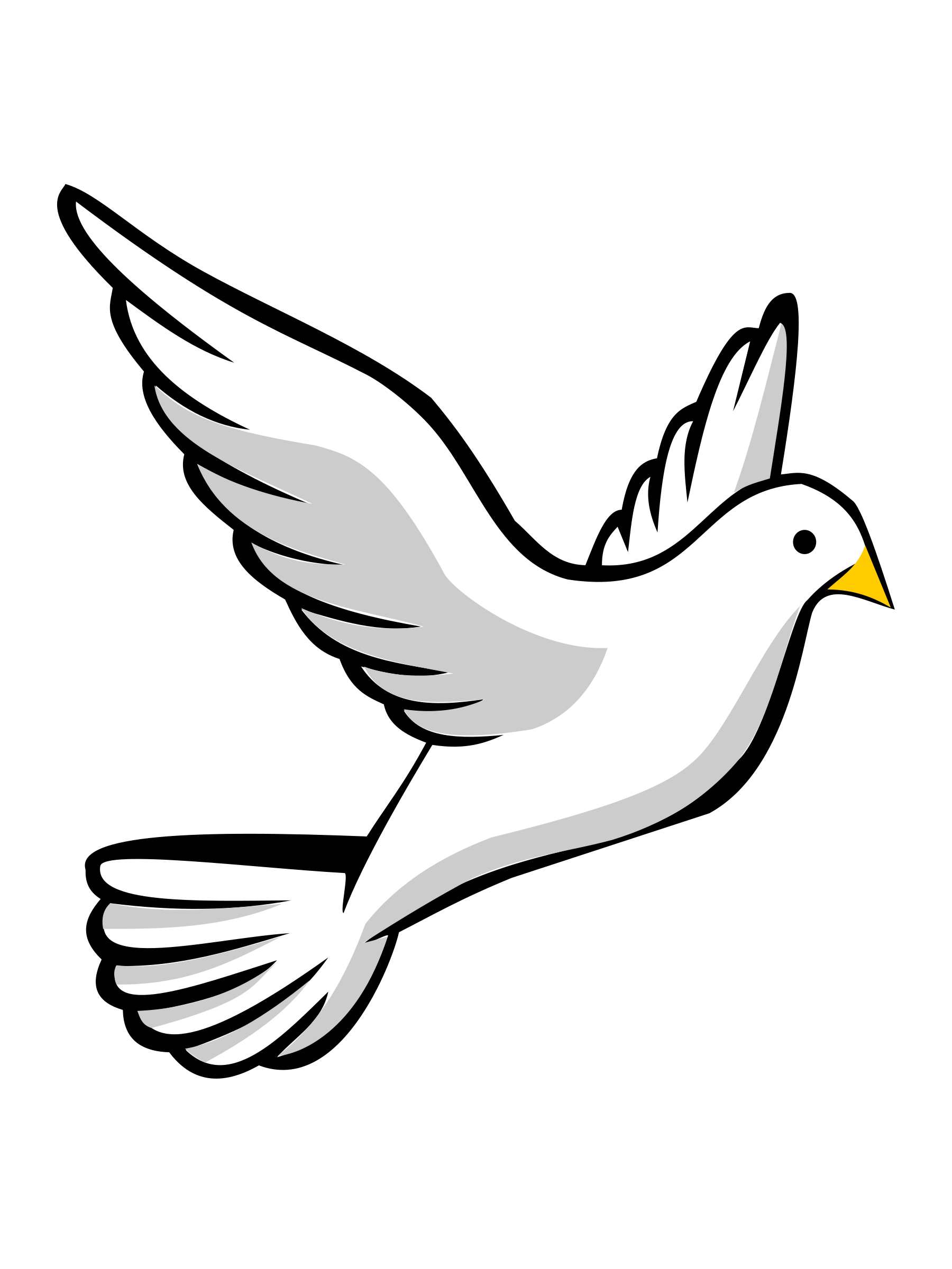 1800x2400 Holy Spirit Dove Clipart Black And White Free 2