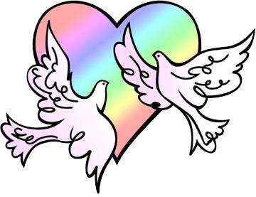 360x277 Wedding Doves Clip Art Clipart Panda