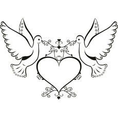 230x230 White Dove Clipart Love