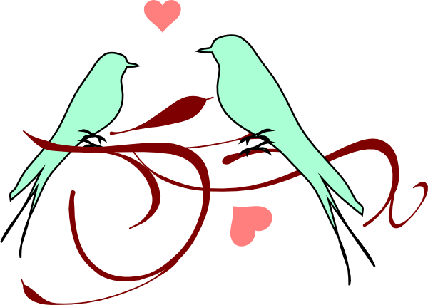 600x428 Love Birds Wedding Clipart