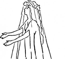 Lace Wedding Dress Clip Art