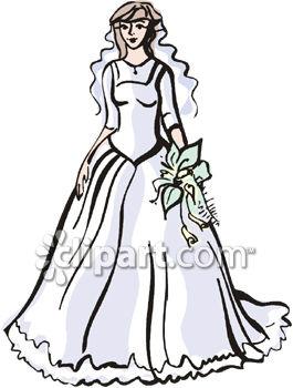 265x350 Wedding Dress Clipart Beautiful Dress