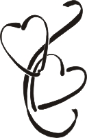 127x200 Double Heart Wedding Clipart