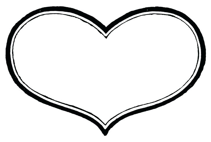728x489 Clipart Heart Heart Border Black And White For Heart Border Black