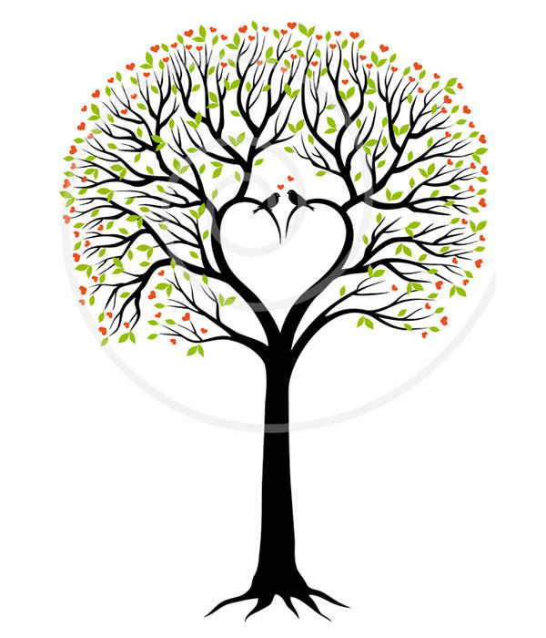 600x700 Love Tree Clip Art For The Cover Of My Record Keeping Journal