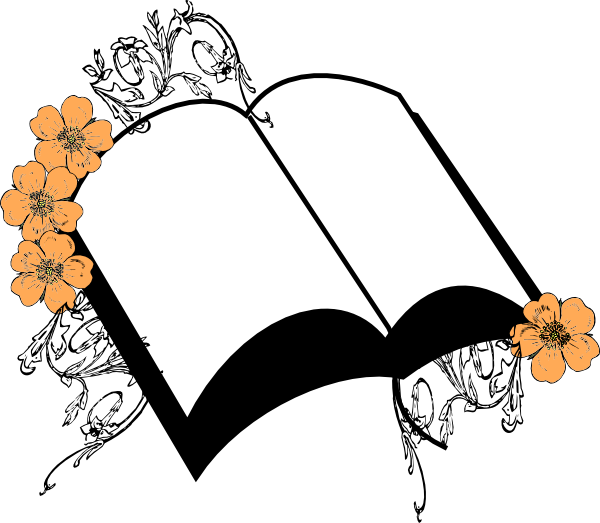 600x523 Wedding Peach Flower Bible Clip Art