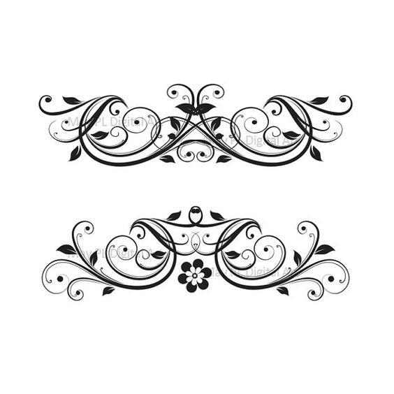 Clip art elegant. Wedding invitation cliparts free