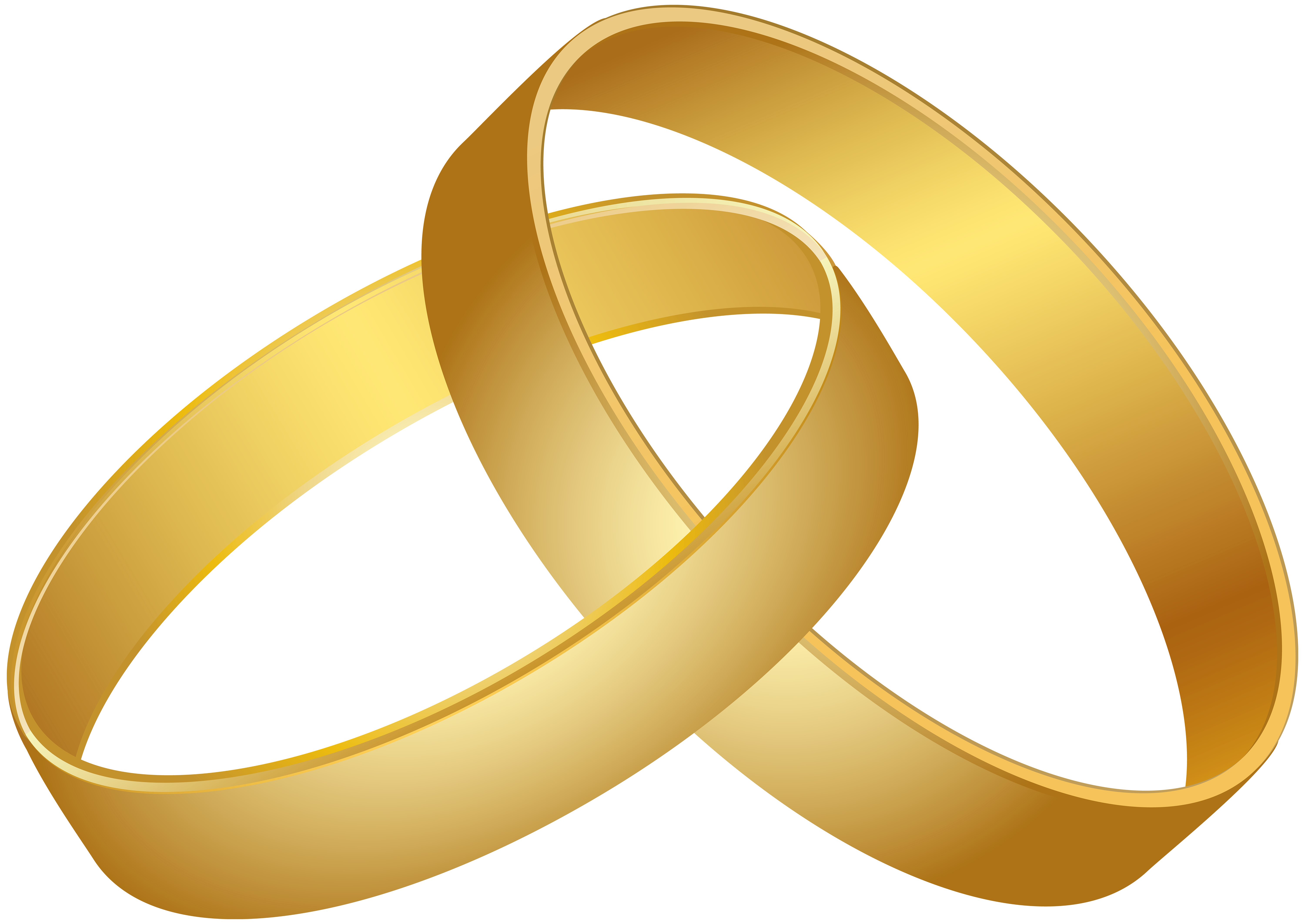 6000x4248 Wedding Rings Gold PNG Clip Art