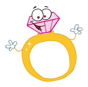 300x296 Engagement Ring Cartoon 4 Diamonds are a Girl#39s Best Friend