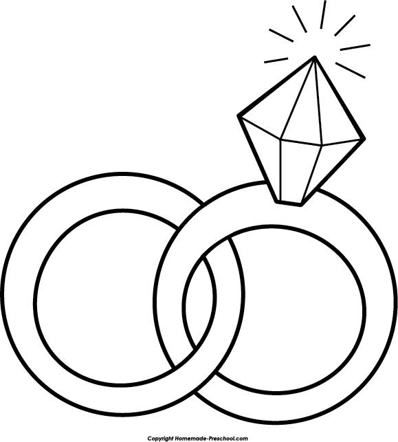 579x643 Free wedding rings clipart 2