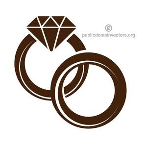 Wedding Ring Graphic Clipart