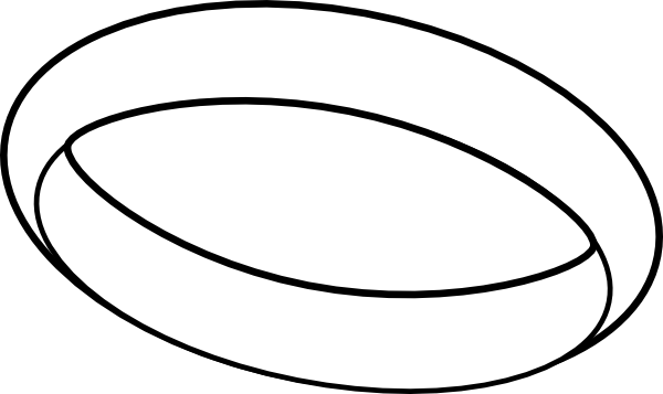 600x357 Free Ring Clipart Black And White Image