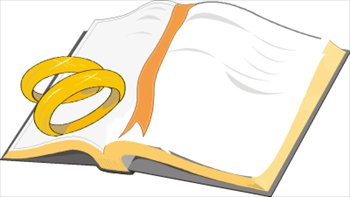 350x197 Free Bible With Wedding Bands Clipart