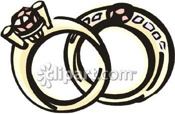 350x229 Gold And Diamond Wedding Ring Set