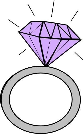 353x567 Purple Clipart Wedding Ring
