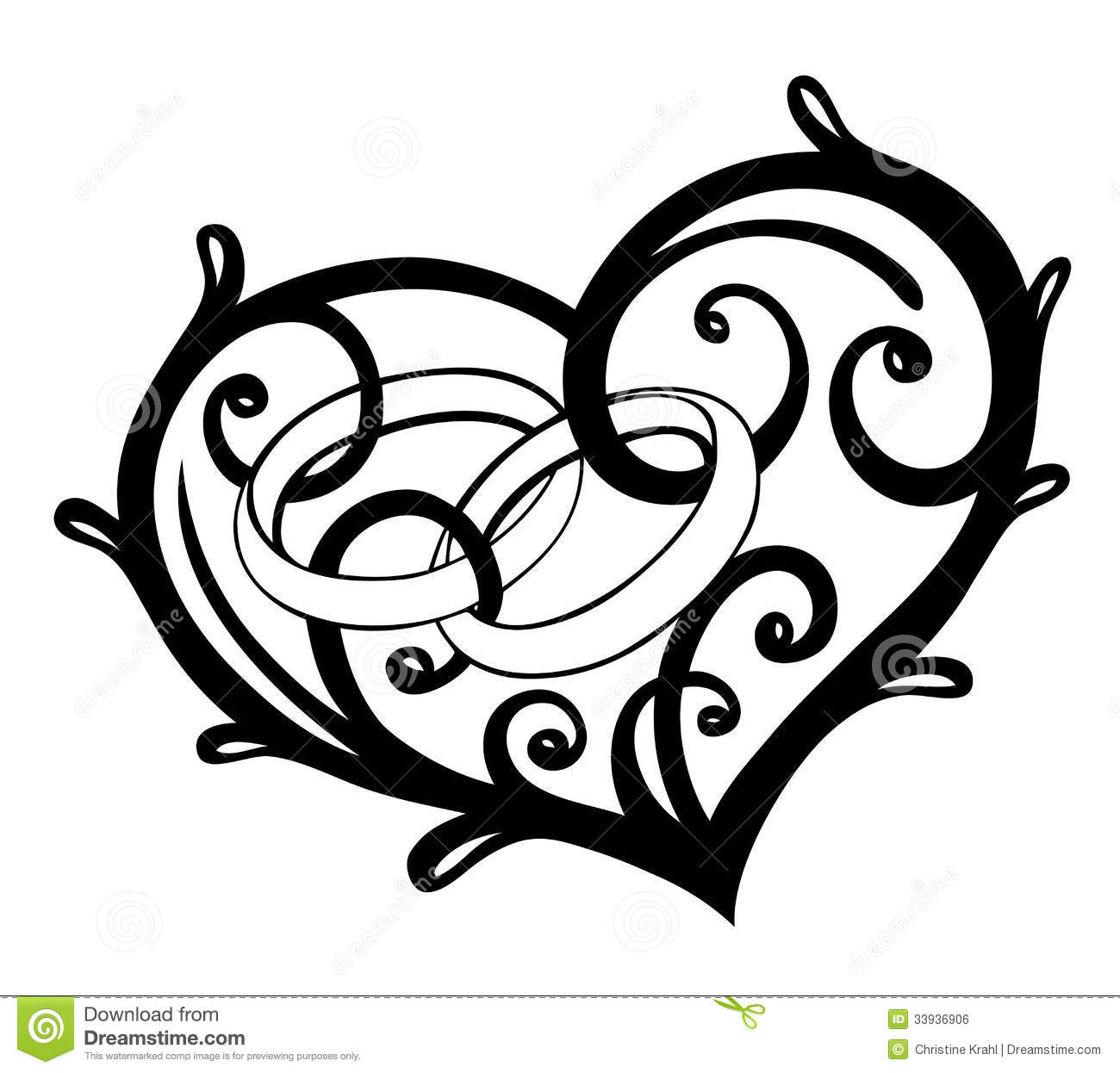 1300x1246 15 Vector Heart Wedding Ring Images