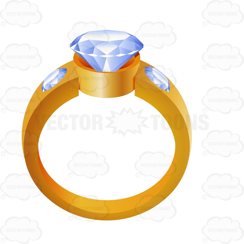 800x800 Gold Wedding Ring With A Diamond Center Gold Weddings