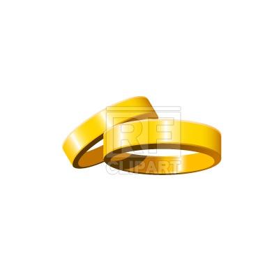 400x400 Golden Wedding Rings Royalty Free Vector Clip Art Image