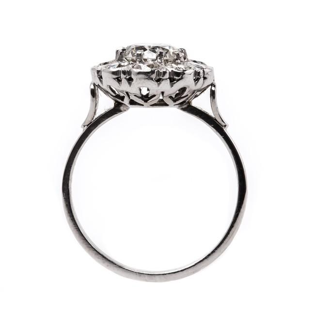650x650 Vintage Art Deco Halo Engagement Ring Berkeley