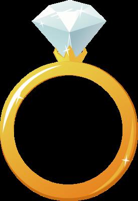 275x400 Wedding Rings 2 Clip Art