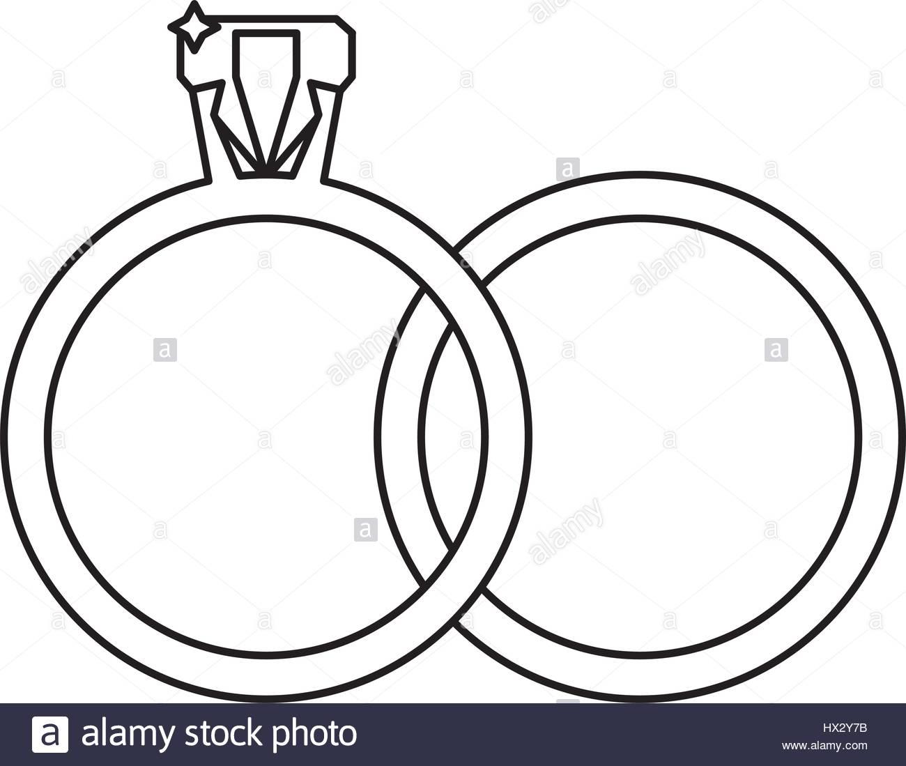 1300x1099 Wedding Rings Jewelry Outline Stock Vector Art Amp Illustration