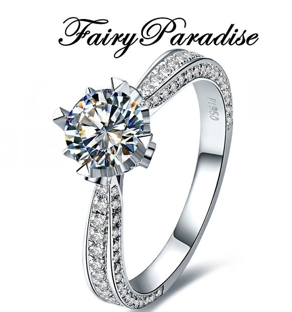 570x607 Art Deco Engagement Ring Promise Rings With 5 Carat Round