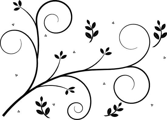 550x394 Scroll Design Clip Art