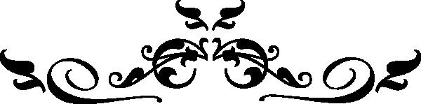 600x149 Black Scroll Clip Art