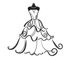 236x212 Bridal Shower Silhouette Clip Art