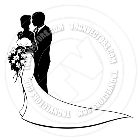 460x460 Bride And Groom Wedding Silhouette Couple By Geoimages Toon