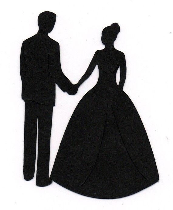 570x689 Free Wedding Silhouettes Clipart