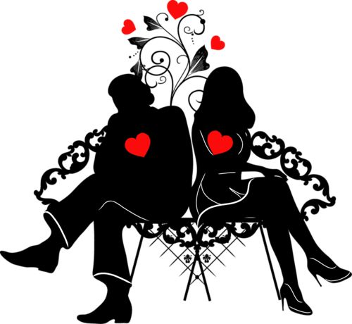 500x460 672 Best Clipart Silhouette Images Relationships