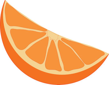 350x272 Clip Art Picture Of An Orange Wedge