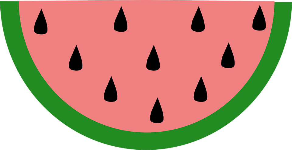 960x492 Clipart Watermelon Slice Wedge