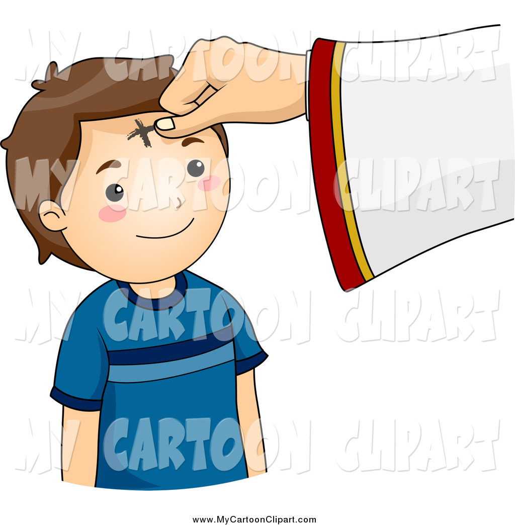 1024x1044 Clip Art Of A Cross Marked On A Boy's Forehead On Ash Wednesday By