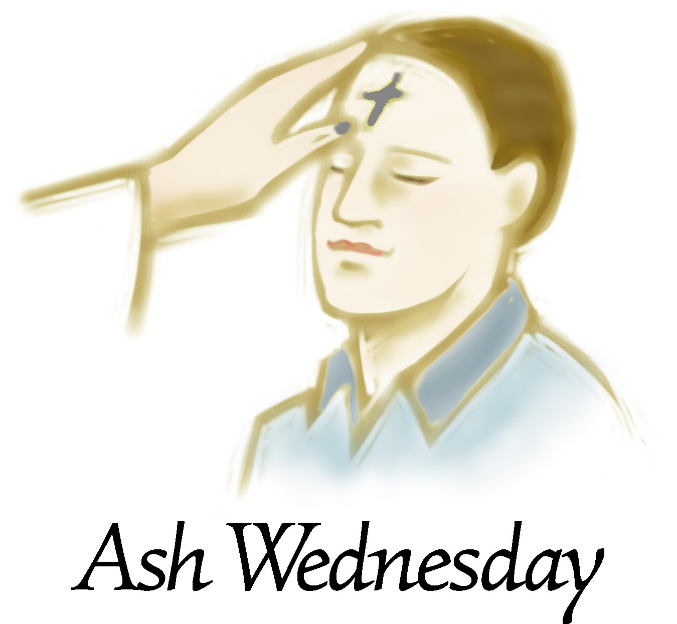 1350x1245 Ash Wednesday Clipart