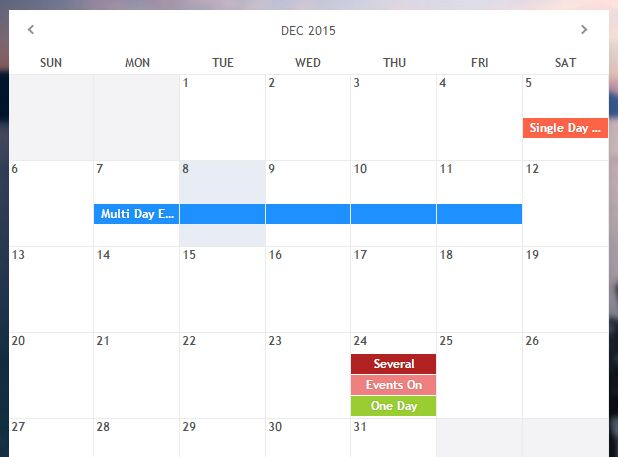 618x457 Awesome Weekly Calendar Bootstrap Calendar