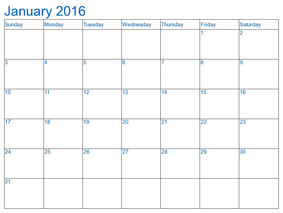 995x750 December January Calendar Printable Calendar Template 2017