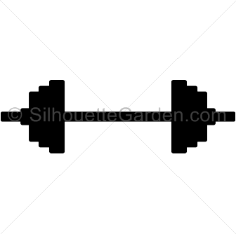 336x334 Barbell Silhouette Clip Art. Download Free Versions Of The Image