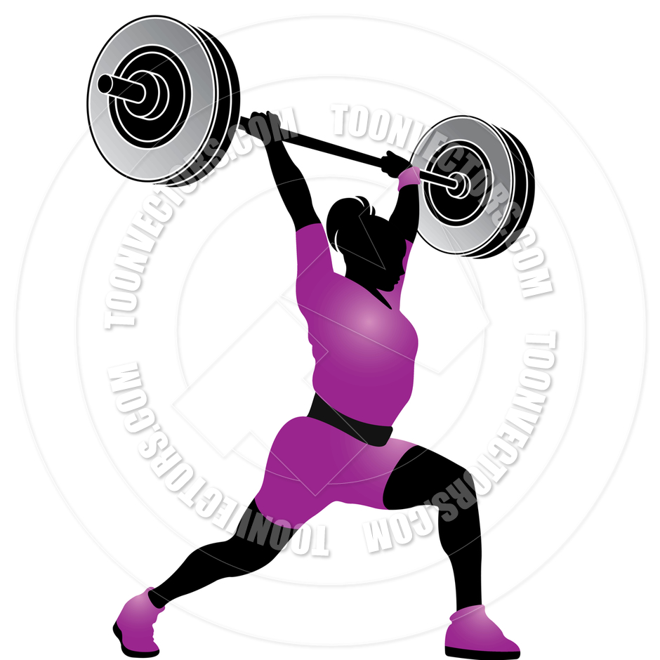 940x940 Cartoon Weight Lifting Woman By Lal Perera Toon Vectors Eps