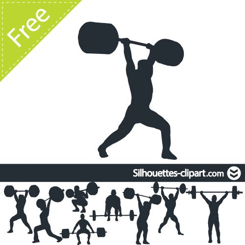Weightlifting Cliparts